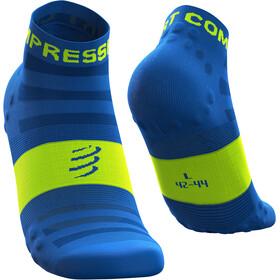 Compressport Pro Racing V3 Ultralight Calcetines Running Corte Bajo, azul/verde